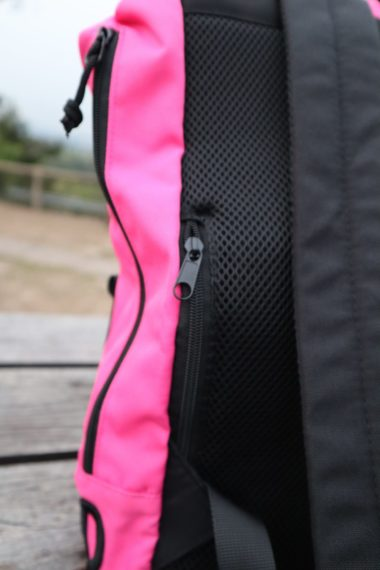 wide open large backpack side zip
