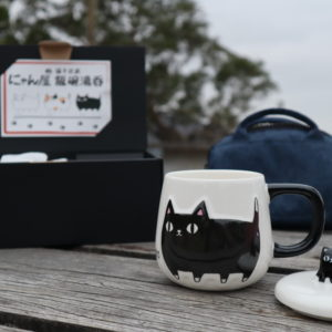 Porcelain Cat Neko Sankyodai Cup For Cat Lover