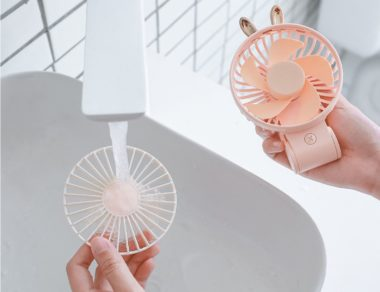Handheld folding fan easy cleaning